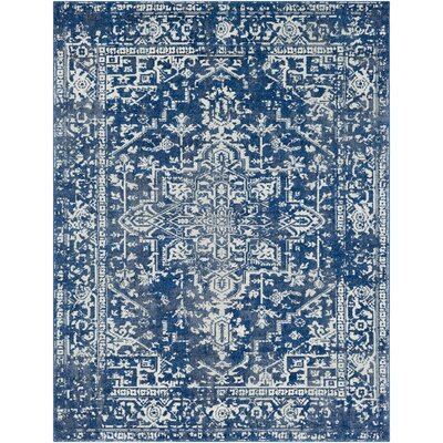Hillsby Geometric Blue Area Rug Rug Size: Rectangle 93 x 126