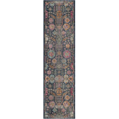 Manya Blue/Pink Area Rug Rug Size: Rectangle 9 x 12