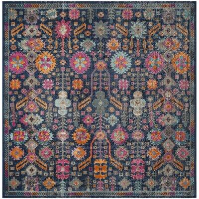 Manya Blue/Pink Area Rug Rug Size: Square 67