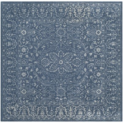 Samaniego Hand-Tufted Gray/Blue Area Rug Rug Size: Square 6
