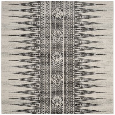 Elson Ivory/Gray Area Rug Rug Size: Square 67