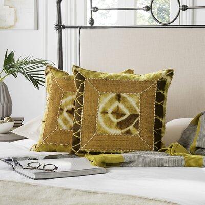 Patch Decorative Throw Pillow Size: 20 H x 20 W x 2.5 D, Color: Tumeric
