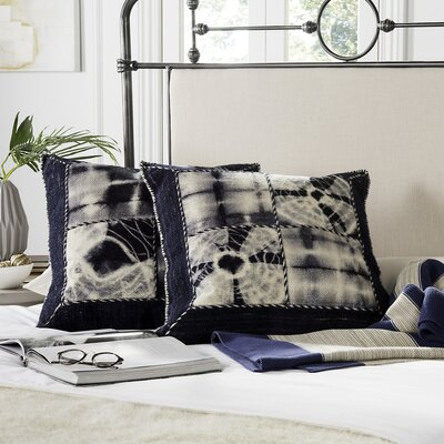 Tarnby Quartre Patch Decorative Throw Pillow Size: 24 H x 24 W x 2.5 D, Color: Navy
