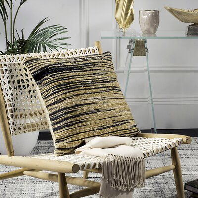 Meansville Stripes Jute and Cotton Throw Pillow