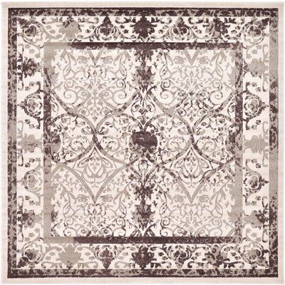Rayden Beige/Brown Area Rug Rug Size: Square 10