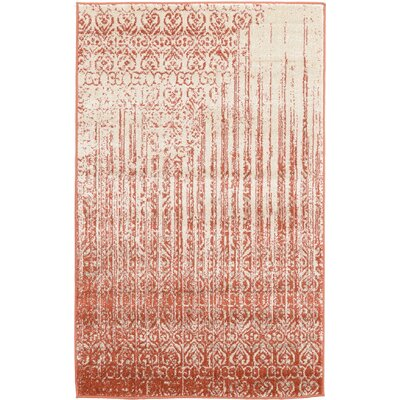 Dungan Red Area Rug Rug Size: Rectangle 33 x 53