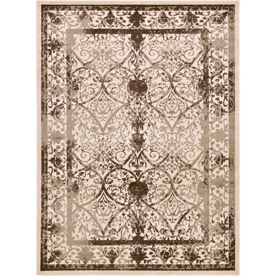 Shailene Beige/Brown Area Rug Rug Size: Rectangle 8 x 11