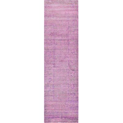 Danbury Purple Area Rug Rug Size: Runner 27 x 91