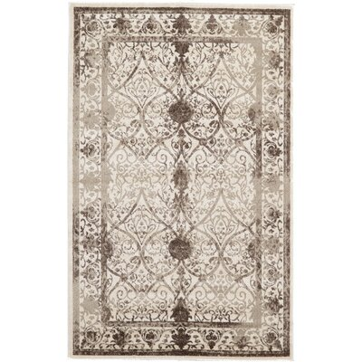 Shailene Beige/Brown Area Rug Rug Size: Rectangle 5 x 8