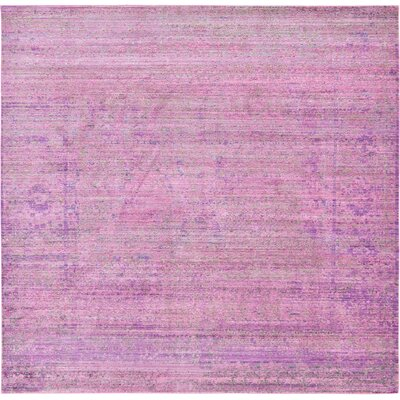 Bradford Purple Area Rug Rug Size: Square 8