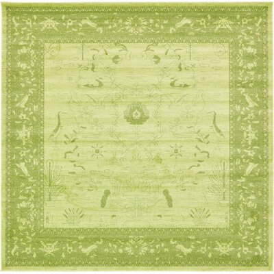 Shailene Light Green Area Rug Rug Size: Square 10