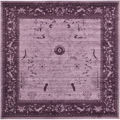 Chappel Purple Area Rug Rug Size: Square 10