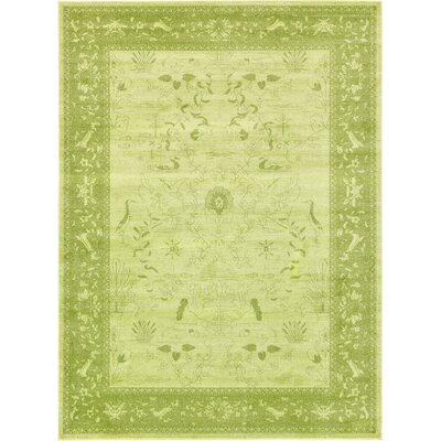 Shailene Light Green Area Rug Rug Size: Rectangle 8 x 11