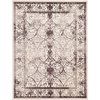 Rayden Beige/Brown Area Rug Rug Size: Rectangle 10 x 13