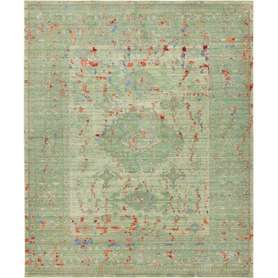 Rune Green Area Rug Rug Size: Rectangle 8 x 10