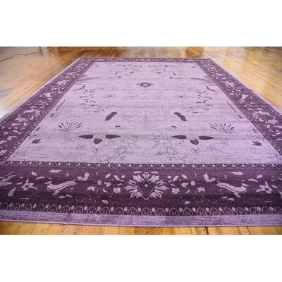 Shailene Purple Area Rug Rug Size: Rectangle 122 x 16