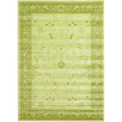 Lisbon Light Green Area Rug Rug Size: Rectangle 7 x 10
