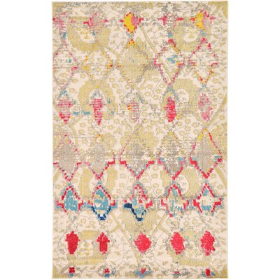 Charleena Beige Area Rug Rug Size: Rectangle 5 x 8