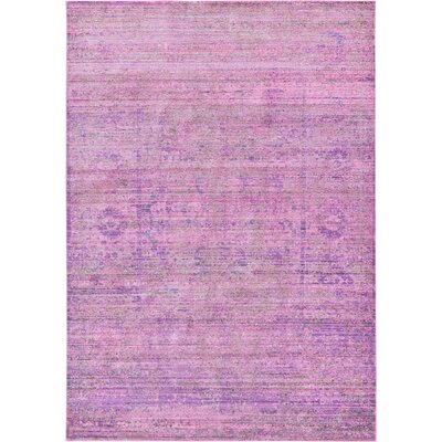 Danbury Purple Area Rug Rug Size: Rectangle 6 x 9