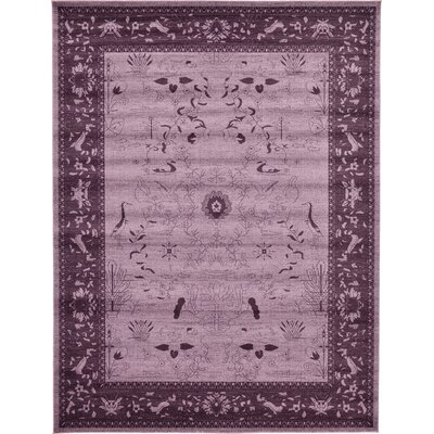 Shailene Purple Area Rug Rug Size: Rectangle 10 x 13