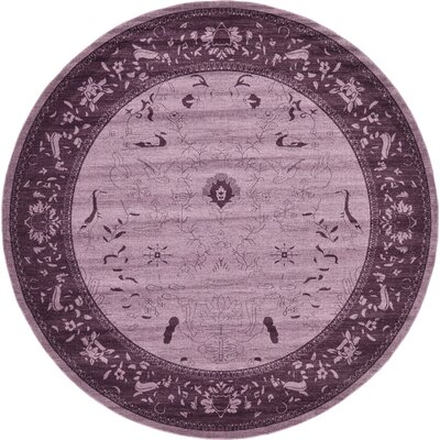 Imperial Purple Area Rug Rug Size: Round 122