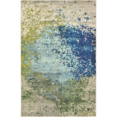 Hayes Blue/Green Area Rug Rug Size: Rectangle 106 x 165