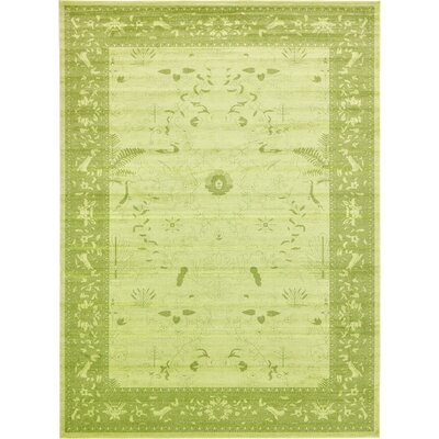 Lisbon Light Green Area Rug Rug Size: 13 x 18