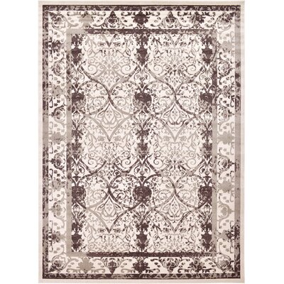 Shailene Beige/Brown Area Rug Rug Size: Rectangle 13 x 18