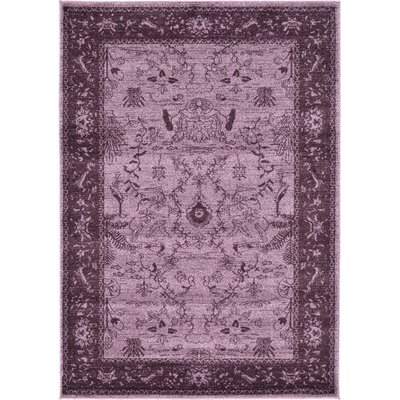 Shailene Purple Area Rug Rug Size: Rectangle 4 x 57