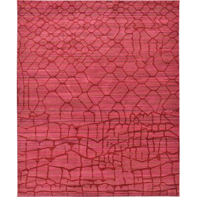 Rune Red Area Rug Rug Size: 8 x 10