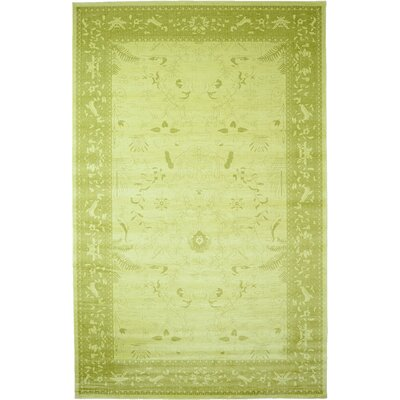Lisbon Light Green Area Rug Rug Size: 106 x 165
