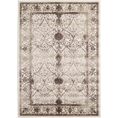 Rayden Beige/Brown Area Rug Rug Size: Rectangle 7 x 10