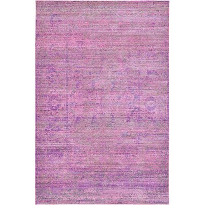 Rune Purple Area Rug Rug Size: 5 x 8