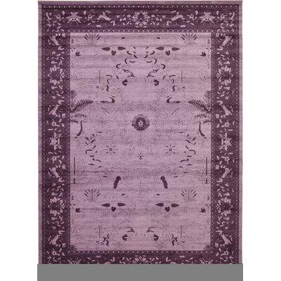 Chappel Purple Area Rug Rug Size: 13 x 18