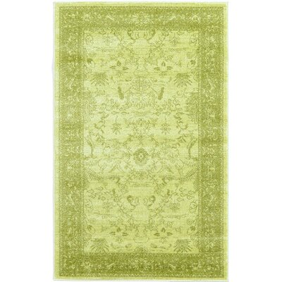 Shailene Light Green Area Rug Rug Size: Rectangle 33 x 53