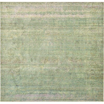 Rune Green Area Rug Rug Size: Square 8