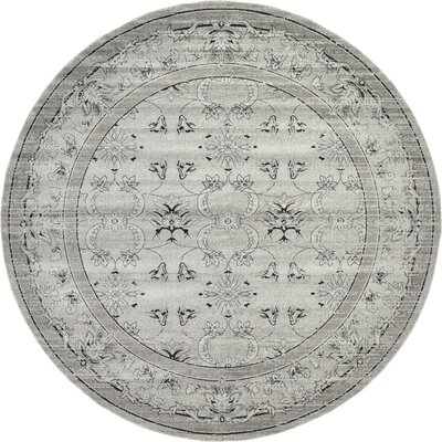 Imperial Gray Area Rug Rug Size: Round 122