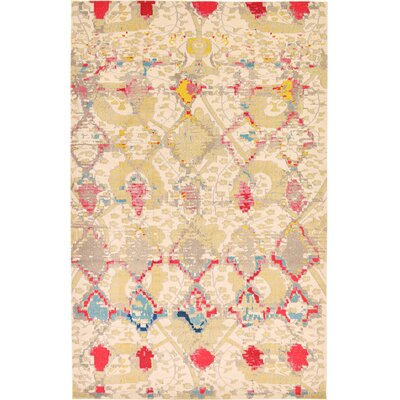 Charleena Beige Area Rug Rug Size: Rectangle 7 x 10