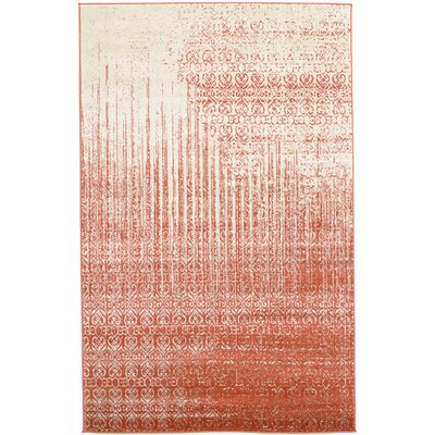 Raphael Red Area Rug Rug Size: 5 x 8