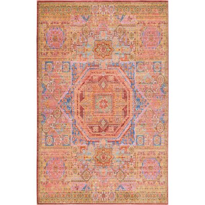 Bradford Peach Area Rug Rug Size: Rectangle 6 x 9