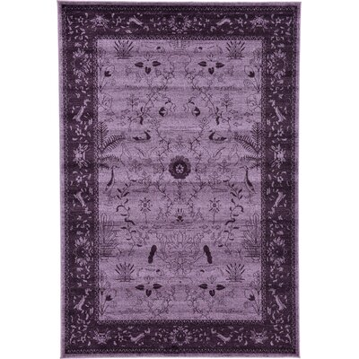 Imperial Purple Area Rug Rug Size: 6 x 9