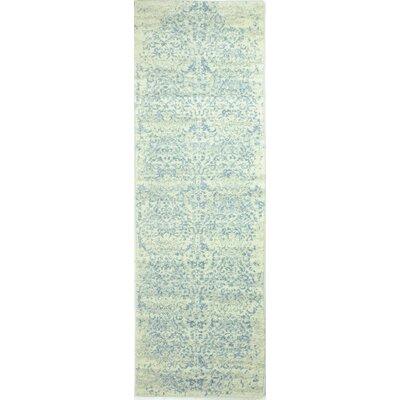 Arlingham Ivory/Aqua Area Rug Rug Size: Runner 26 x 8