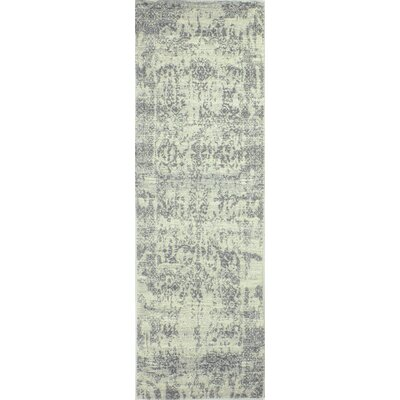 Chase Ivory/Silver Area Rug Rug Size: Runner 26 x 8
