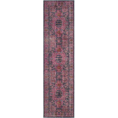 Manya  Fuchsia Area Rug Rug Size: Runner 22 x 8
