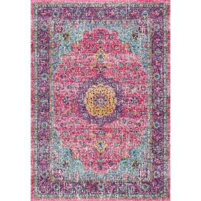 Darcia Pink/Purple Area Rug Rug Size: Rectangle 5 x 75
