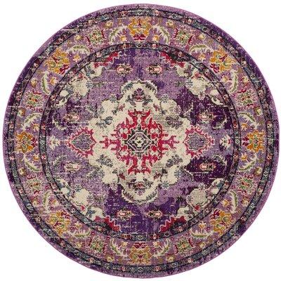Shakti Violet/Fuchsia Area Rug Rug Size: 8 x 10