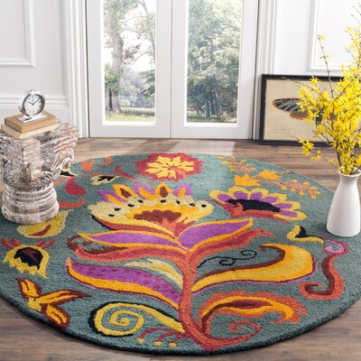 Broadmoor Blossom Area Rug Rug Size: Round 6