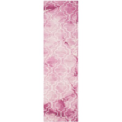 Jawhar Hand-Woven Rose/Ivory Area Rug Rug Size: Runner 23 x 8
