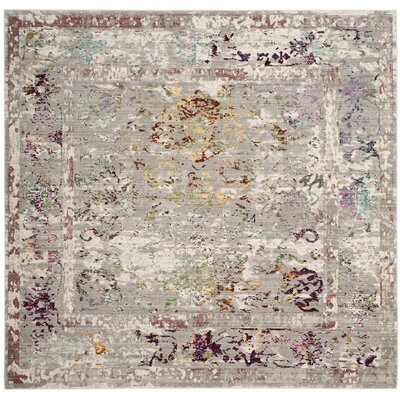 Lulu Rectangle Gray/Multi Area Rug Rug Size: Square 67