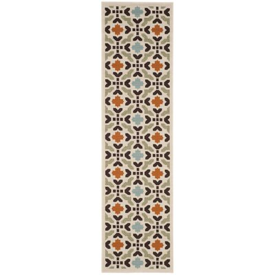 Clermont Cream Indoor/Outdoor Area Rug Rug Size: Runner 23 x 8